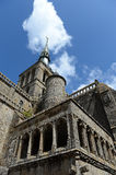 Mont Saint Michel fortifications Royalty Free Stock Photography