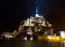 Mont Saint-Michel (França) Imagem de Stock Royalty Free