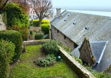 Mont Saint-Michel (França) Fotografia de Stock Royalty Free