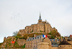 Mont Saint-Michel, France. Mont Saint-Michel is a tidal island in Normandy and one of the most visited tourist sites in France royalty free stock photo