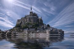 Mont Saint Michel, France  Royalty Free Stock Photography
