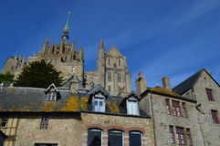 The Mont-Saint-Michel in France. The scenery of The Mont-Saint-Michel in France Stock Photo