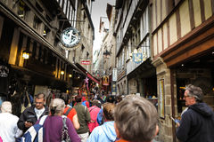Mont Saint Michel, France - September 8, 2016: , Unidentified to Royalty Free Stock Photo
