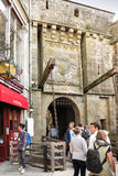 Mont Saint Michel, France - September 8, 2016: , Unidentified to Royalty Free Stock Image