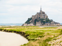 Mont Saint-Michel, France. Mont Saint-Michel - tidal island, town and abbey. France royalty free stock photo