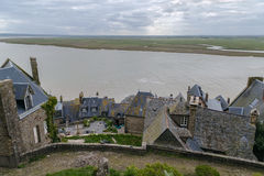 Mont Saint-Michel, France. View from wall of Mont Saint-Michel, France Stock Photography
