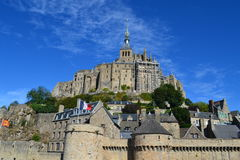 Mont Saint Michel , France. Mont Saint Michel Village in the Northwest of France royalty free stock images