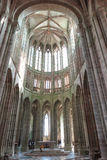 Mont Saint Michel, Francia - 8 de septiembre de 2016, abadía benedictina Foto de archivo libre de regalías