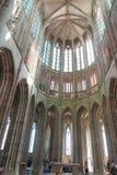 Mont Saint Michel, Francia - 8 de septiembre de 2016, abadía benedictina Imagen de archivo