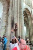 Mont Saint Michel, Francia - 8 de septiembre de 2016, abadía benedictina Fotografía de archivo libre de regalías