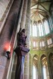 Mont Saint Michel, Francia - 8 de septiembre de 2016, abadía benedictina Fotos de archivo libres de regalías