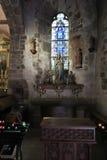 Mont Saint Michel, Francia - 8 de septiembre de 2016: El interior de t Imágenes de archivo libres de regalías