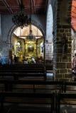 Mont Saint Michel, Francia - 8 de septiembre de 2016: El interior de t Imagenes de archivo