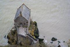 MONT saint-michel FRANCJA, MARZEC, - 27, 2016: Mont saint-michel vi Obrazy Royalty Free