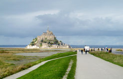 Mont Saint Michel in Frankreich Stockfotos