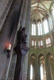 Mont Saint Michel, Frankreich - 8. September 2016, Benediktiner-Abtei Lizenzfreie Stockfotos