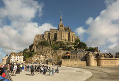 Mont Saint Michel, Frankreich - 8. September 2016: Panoramablick von Stockfotos