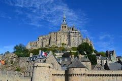Mont Saint Michel Frankrike Royaltyfria Bilder