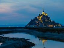 Mont Saint-Michel, Frankrike Arkivbilder