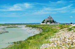 Mont Saint Michel, Haute Normandie Schöne Ansicht der Abtei und Stockbild