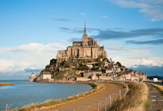 Mont Saint-Michel, High Tide, Autumn Stock Photos