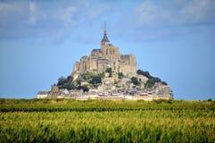 Mont Saint Michel i Frankrike Fotografering för Bildbyråer