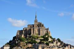Mont Saint Michel i Frankrike Arkivfoto