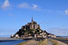 Mont Saint Michel i Frankrike Arkivbild