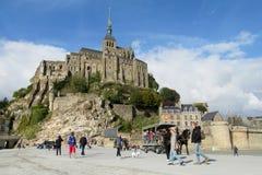 Mont Saint Michel i Frankrike Royaltyfri Foto