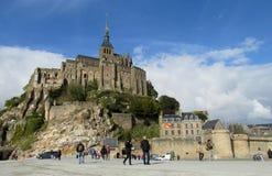 Mont Saint Michel i Frankrike Royaltyfria Foton