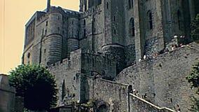 Mont Saint-Michel-Kloster stock video footage