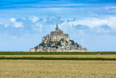 Mont Saint Michel Monastery Stock Images