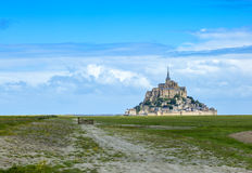 Mont Saint Michel Monastery. Image of Mont Saint Michel Monastery located in Normandy in North of France. This is one of the most visited sights from France Stock Image