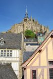 Mont Saint-Michel`. Mont Saint-Michel, Normandy, France Stock Images