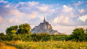 Mont Saint-Michel in morning haze Royalty Free Stock Photos