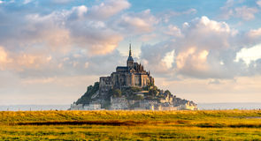 Mont Saint-Michel in morning haze Stock Images