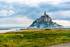 Mont Saint-Michel in morning haze Royalty Free Stock Photography