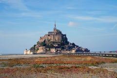 Mont Saint-Michel no outono fotos de stock royalty free