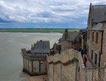 Mont Saint-Michel, Normandië, noordelijk Frankrijk De zomer van 2019 stock afbeeldingen