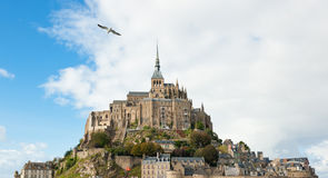 Mont Saint Michel Normandie Royaltyfria Foton