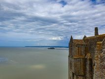 Mont Saint-Michel, Normandie, France du nord ?t? 2019 photographie stock libre de droits