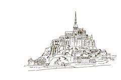 Mont Saint Michel Normandie, Frankreich lizenzfreie abbildung