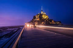 Mont Saint-Michel, Normandie, Frankreich Es ` s eins des meisten Besuchs Lizenzfreies Stockbild