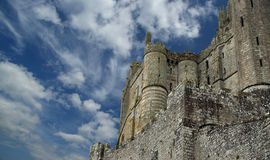 Mont Saint-Michel Normandie, Frankrike Arkivbild