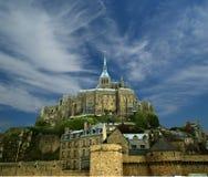 Mont Saint-Michel Normandie, Frankrike Fotografering för Bildbyråer