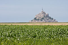 Mont Saint Michel in Normandy Royalty Free Stock Photo