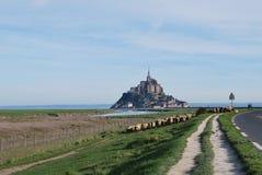 Mont Saint-Michel`. Mont Saint-Michel, Normandy, France Stock Photography