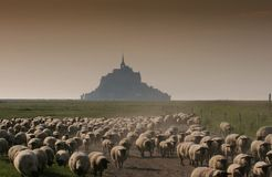 Mont saint Michel, normandy, France Stock Photography