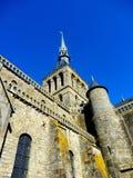 Mont Saint-Michel. At mont Saint-Michel, Normandy France Royalty Free Stock Photo