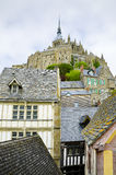 Mont saint Michel, Normandy, France. Beautiful Mont Saint-Michel are part of the UNESCO list of World Heritage Siteson stock photography